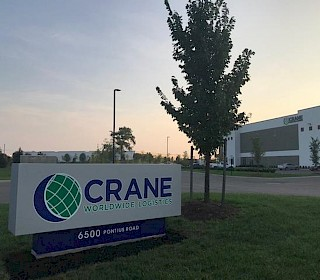 Lagerhalle auf Pontius Road, Columbus, Crane Worldwide Logistics Ohio