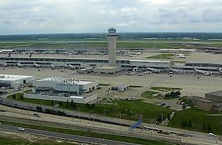 Logistiklager in der Nähe des Flughafens Detroit