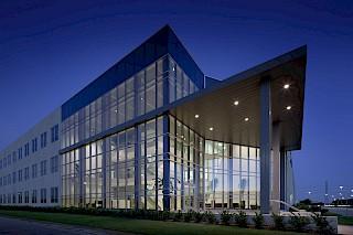 Magazzino logistico e ufficio a Houston, sede centrale di Crane Worldwide.