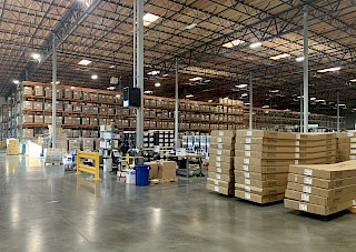 Seattle internal warehouse with racking