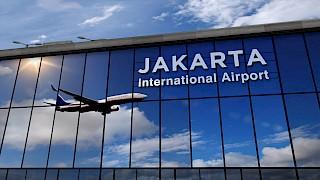 Jakarta Flughafenschild