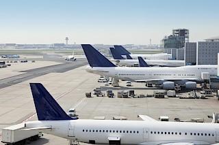 Frankfurter Flughafenfrachtladung