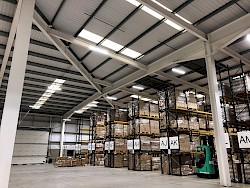 London Heathrow warehouse racking