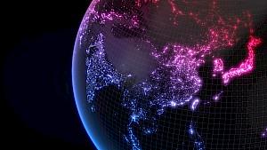 Indien auf dem Globus