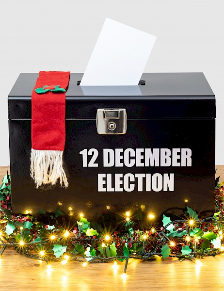 Picture of a voting box for the general election in the United Kingdom