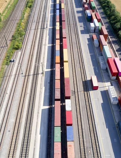 Bild des Schienengüterverkehrs