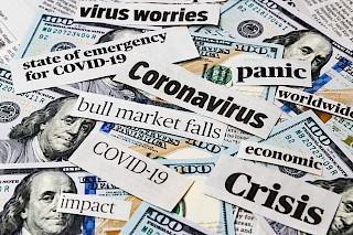Zeitungsschlagzeilen Coronavirus