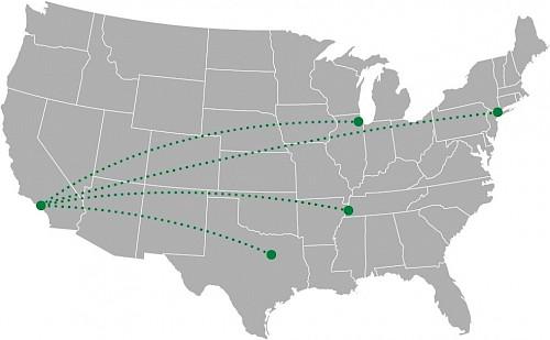USA Karte LKW-Ziele