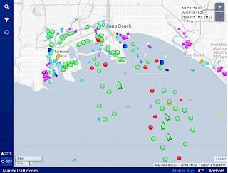 Karte der Überlastung im Hafen