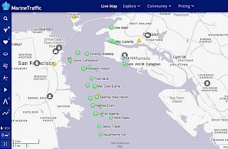 Grafik der Hafenimporte von Oakland